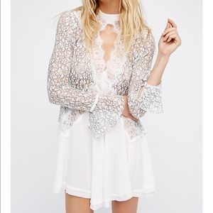 Secret Origins Pieced Lace Tunic Dress